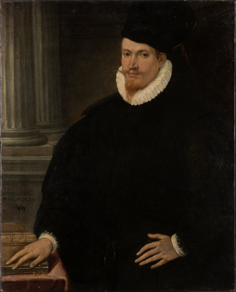 Portrait of a Red-Bearded Young Man in a Black Dress, Venetian Master ca. 1570