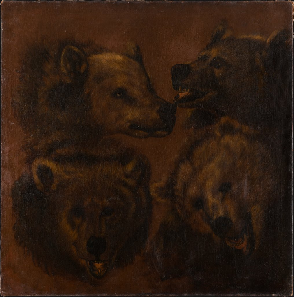 Four Lifesized Bear's Heads, Johann Melchior Roos