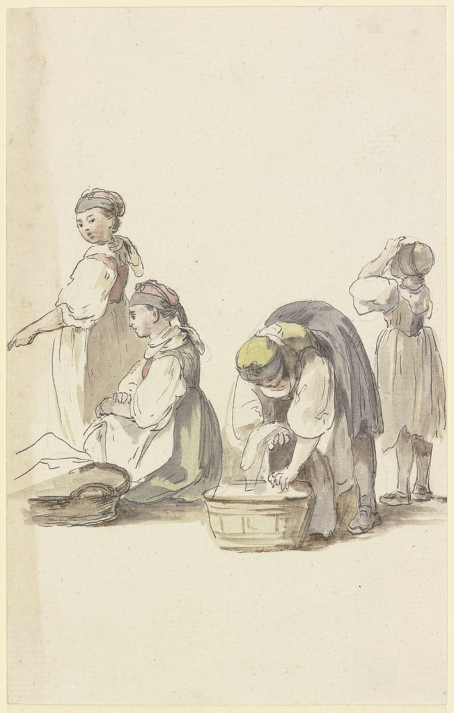 Four farmwomen, Georg Melchior Kraus