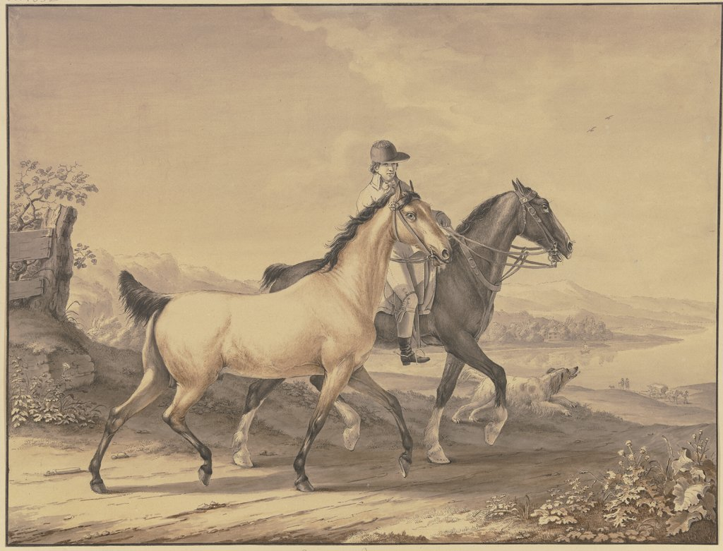 English horses, Johann Georg Pforr