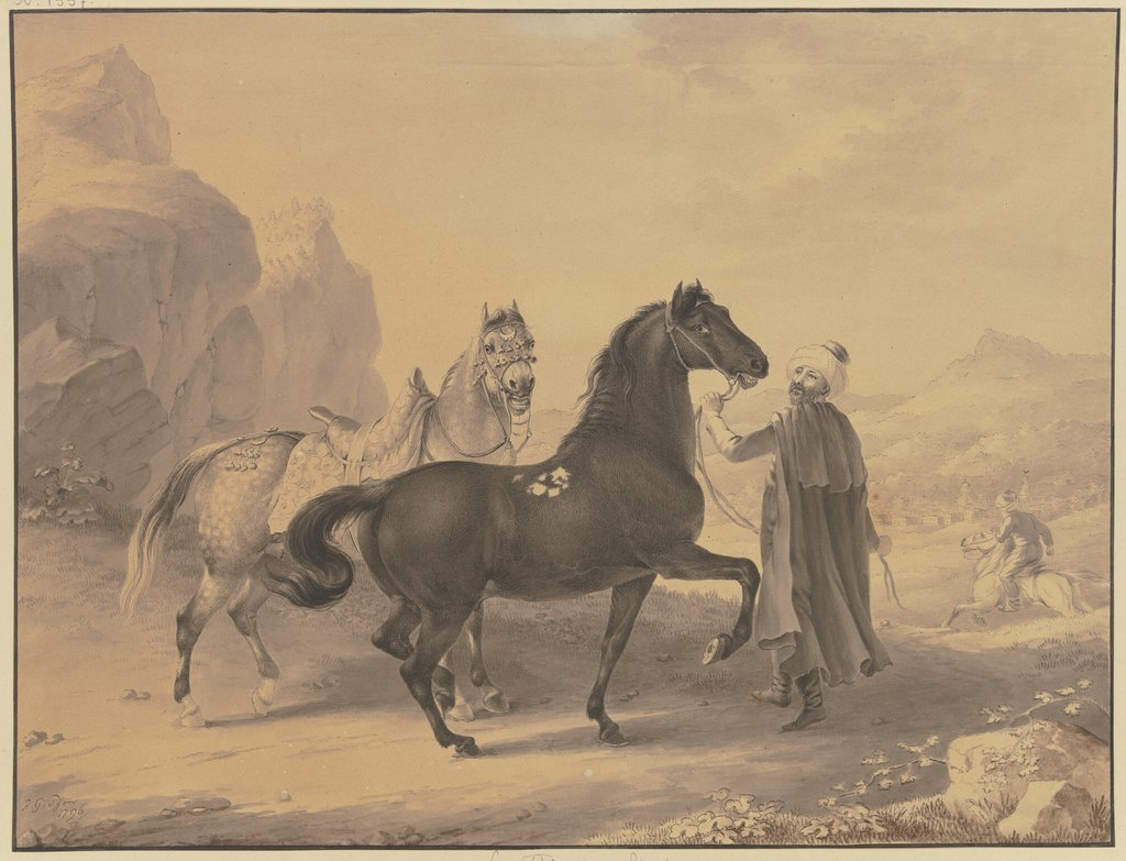Turkish horses, Johann Georg Pforr