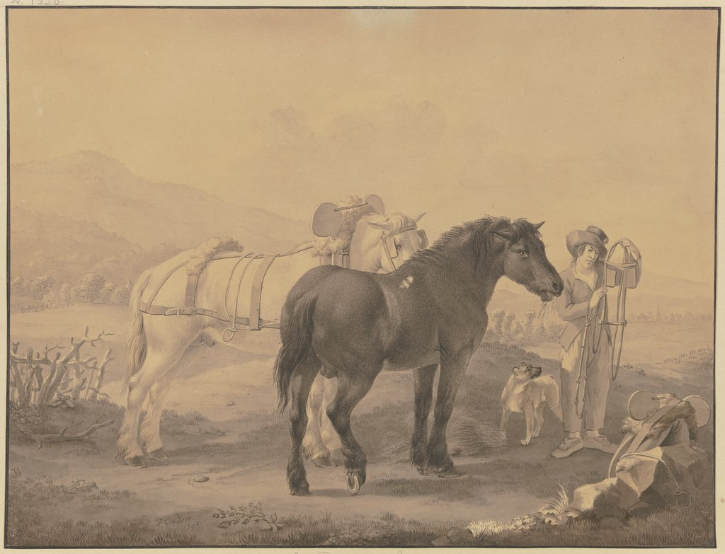 French horses, Johann Georg Pforr