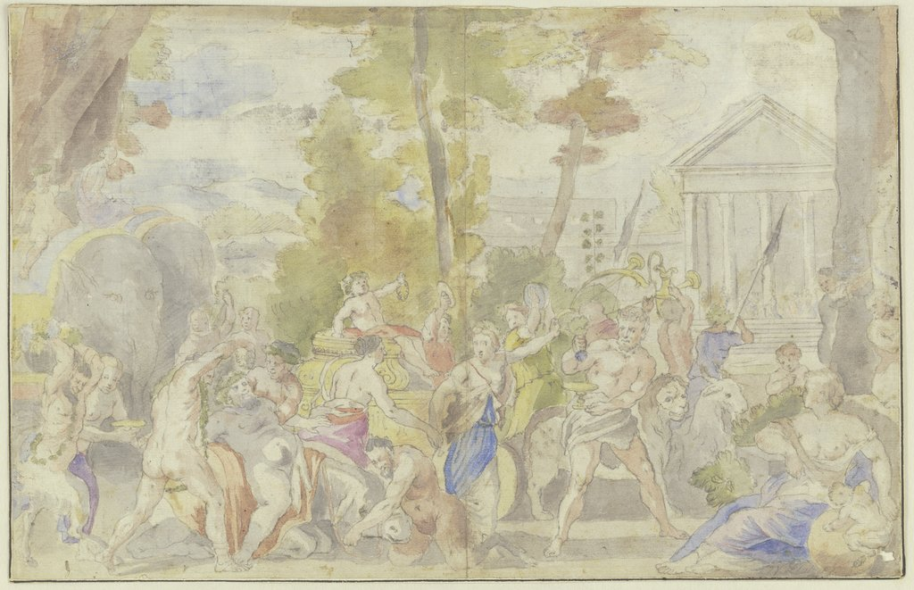 The triumph of Bacchus, Johann Viktor Platzer   ?, after Pietro da Cortona