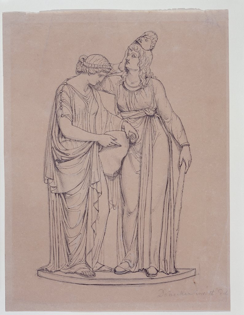 Clio and Melpomene, Johann Heinrich von Dannecker