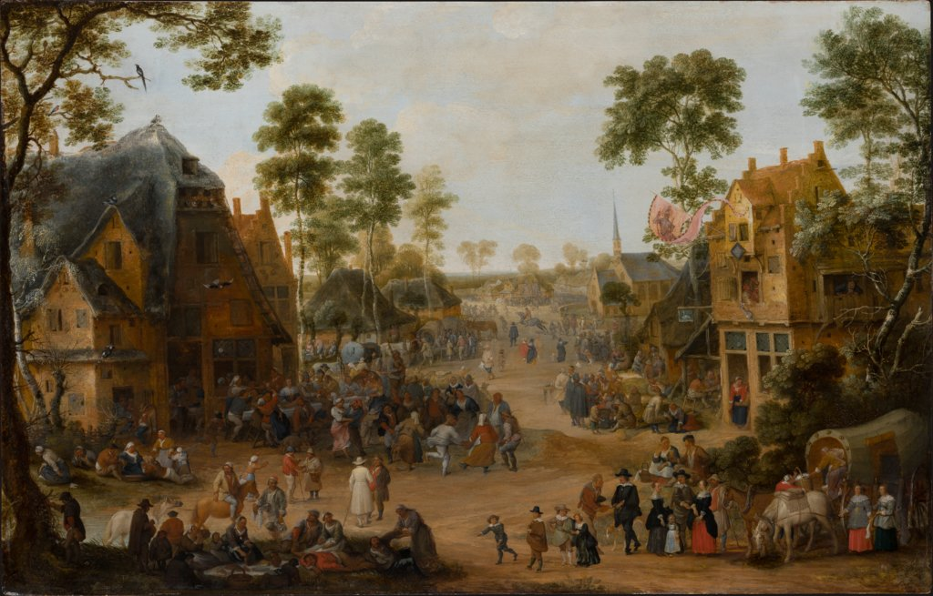 Village Church Festival, Adriaen van Stalbemt