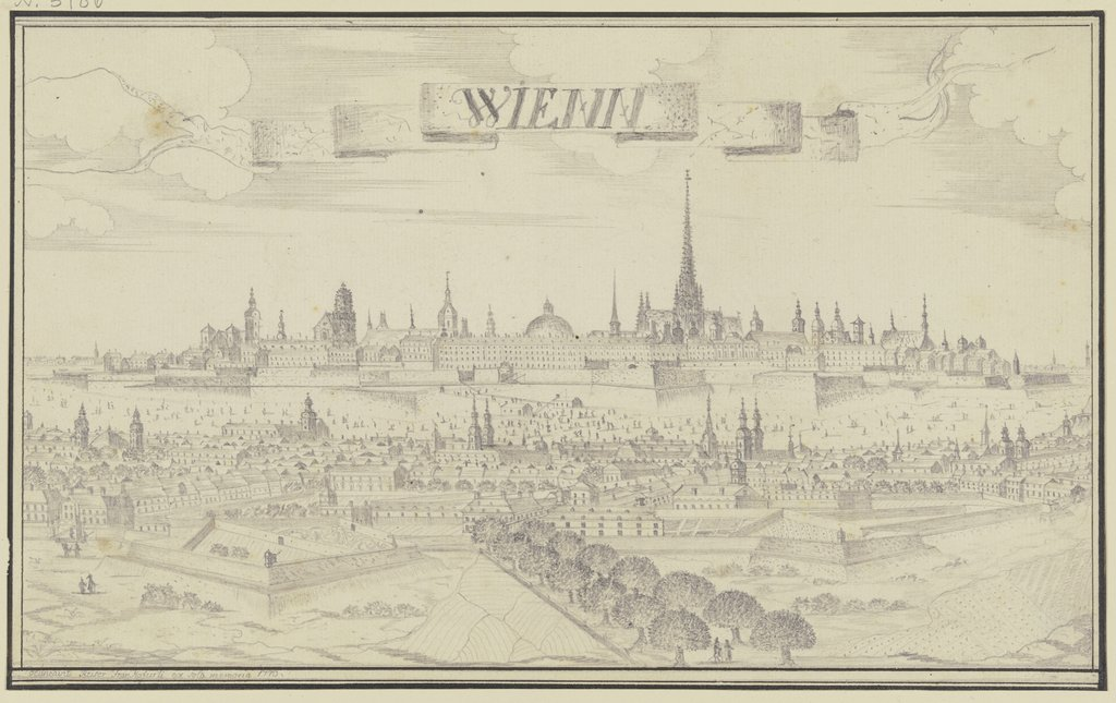 View on Vienna, Johann Baptist Reiser