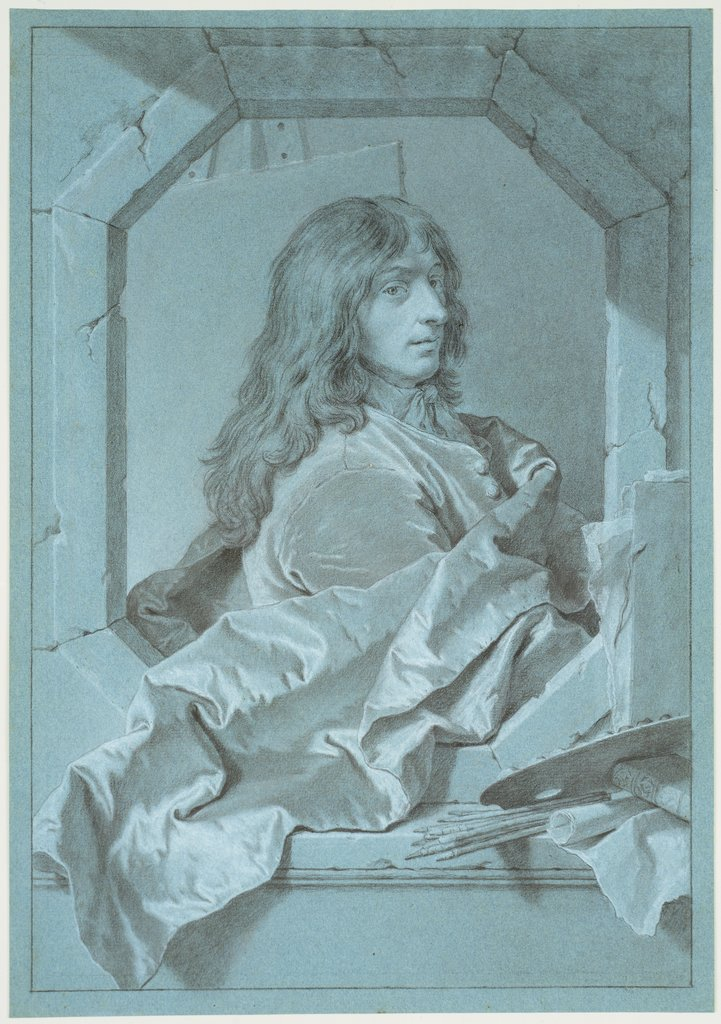 Portrait of the Painter Sébastien Bourdon, Hyacinthe Rigaud