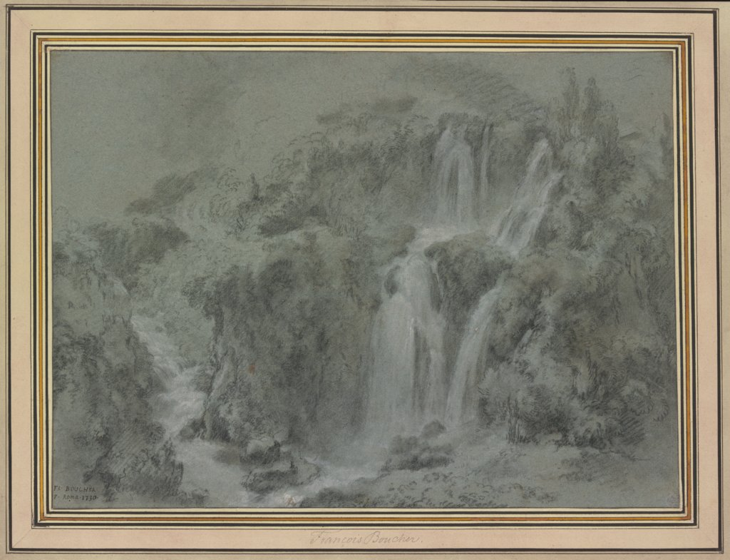 The Waterfalls of Tivoli, François Boucher
