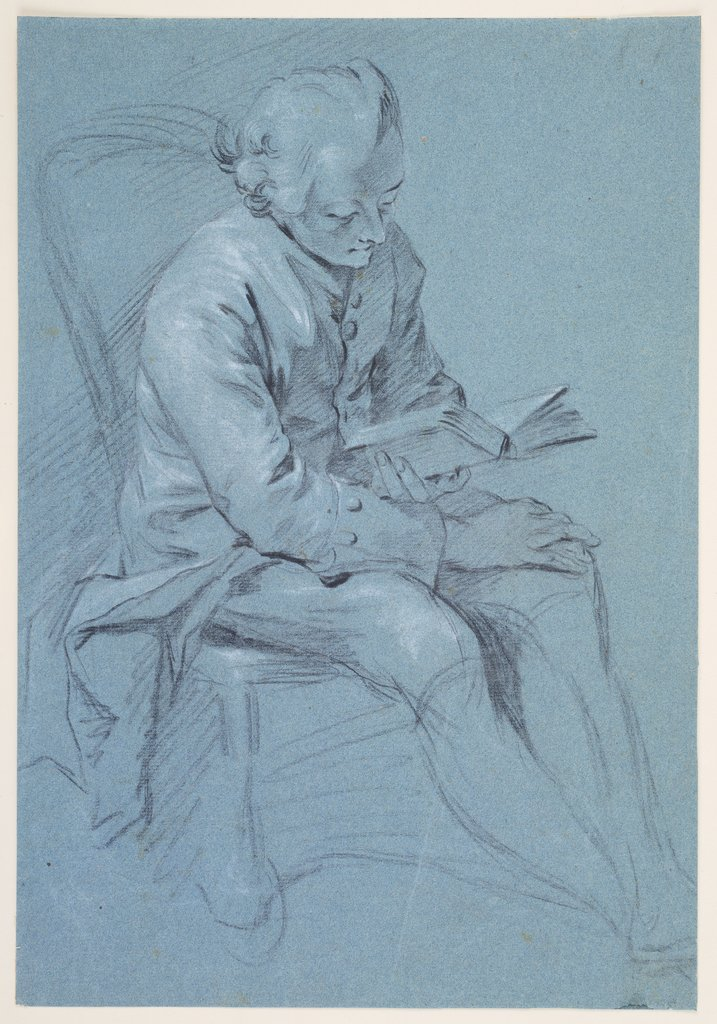 Reading man, Georg Melchior Kraus