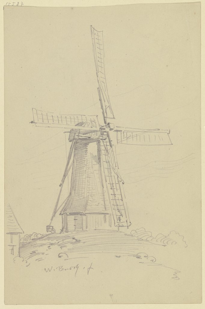 Dutch windmill, Wilhelm Busch