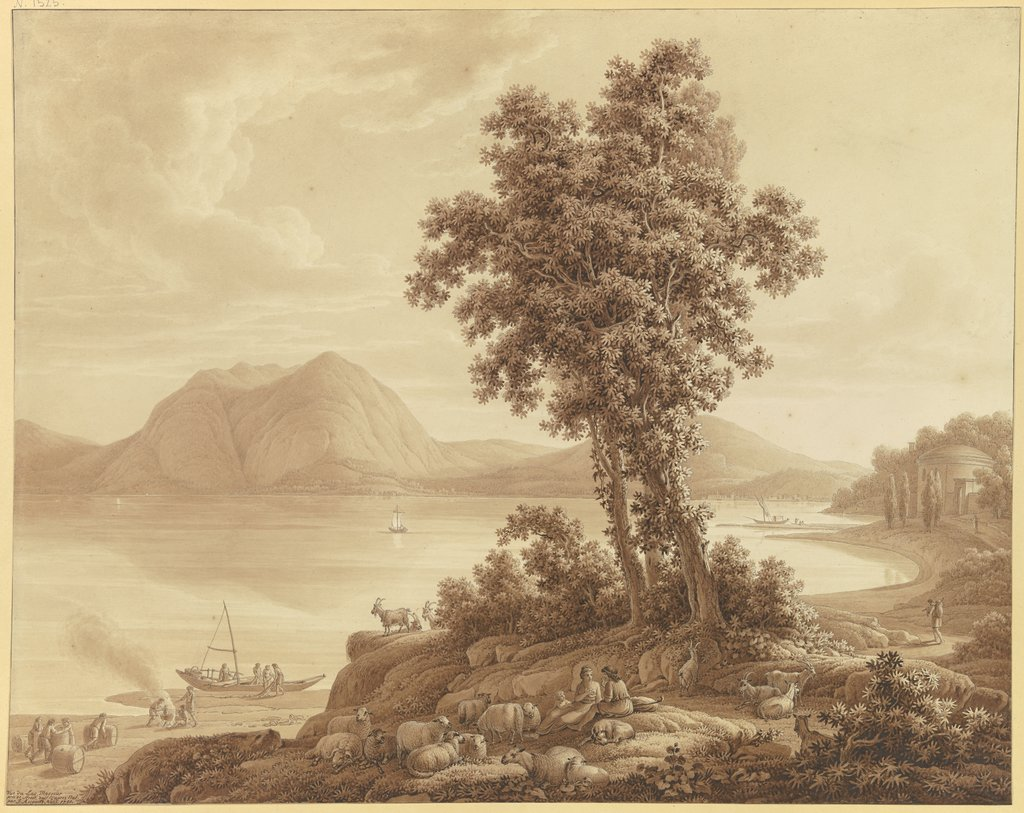 View of Lake Maggiore, Johann August Nahl the Younger