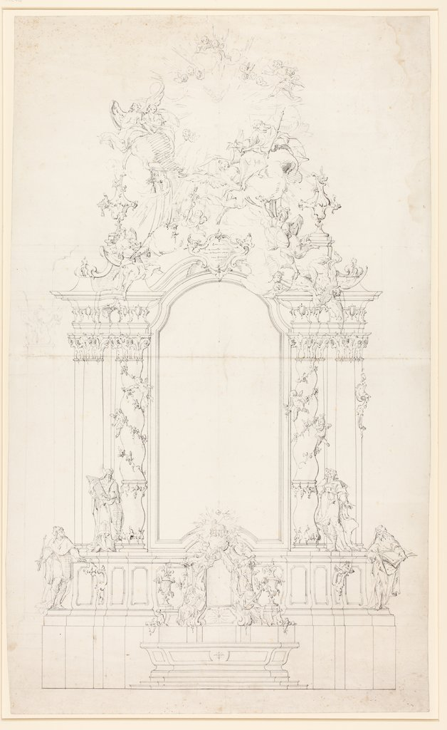 Sketch of an altar, Johann Baptist Straub