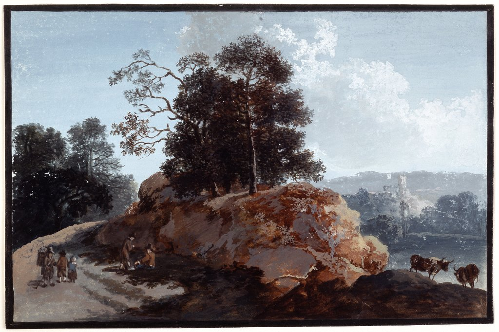 Tree section on rocks, Johann Friedrich Alexander Thiele