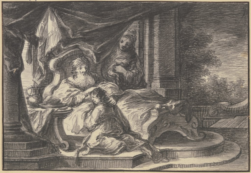 Isaac blessing Jacob, Johann Georg Trautmann