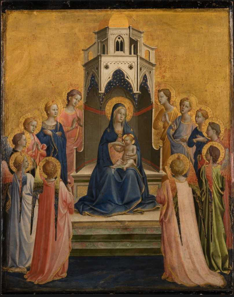 Madonna and Child Enthroned and Twelve Angels, Fra Angelico