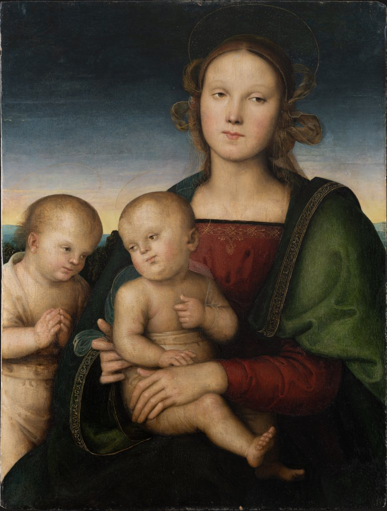 Madonna and Child with the Infant St. John, Pietro Perugino