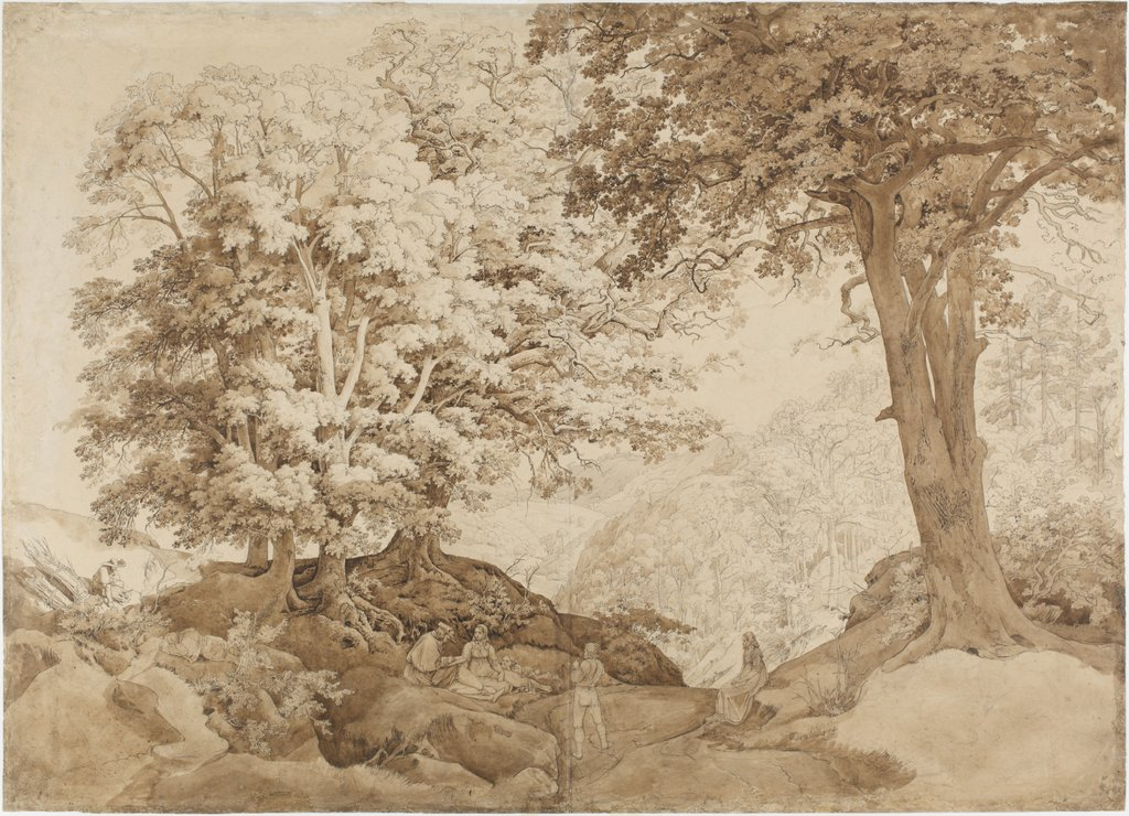 Rest in the oak forest, Carl Philipp Fohr
