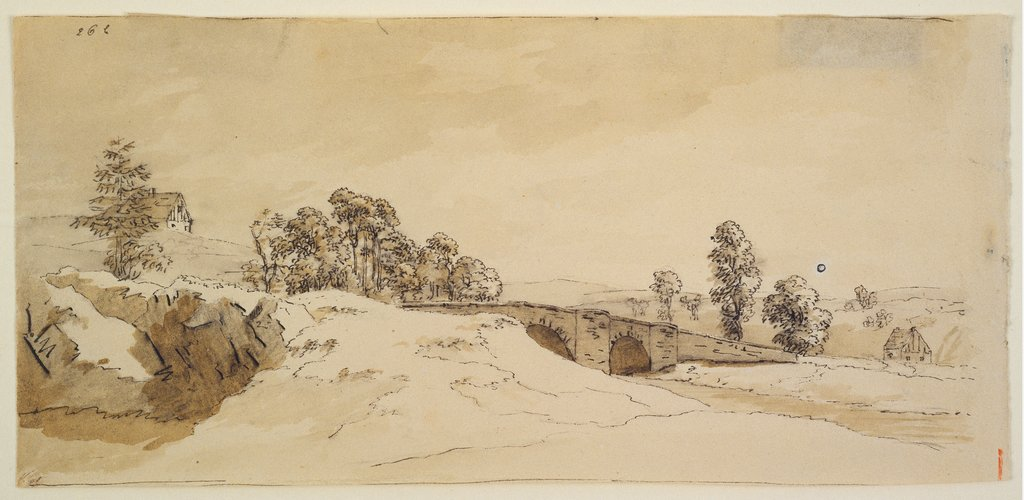 Landscape with bridge, Caspar David Friedrich