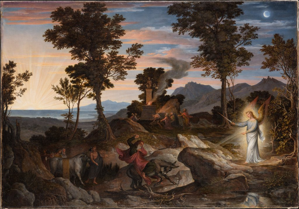 Landscape with the Prophet Balaam and his donkey, Joseph Anton Koch