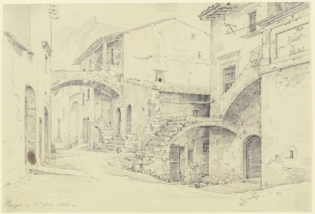 Straße in Terni-Papigno, Ernst Fries