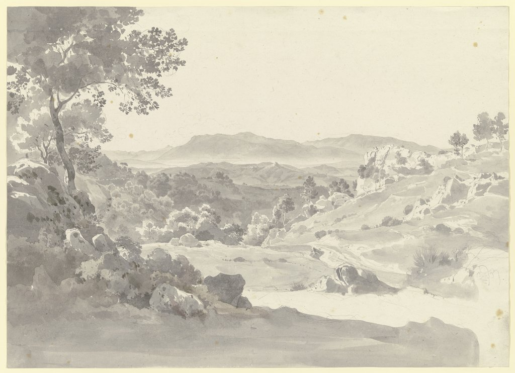 Bewaldete Berglandschaft in der Toskana, Ernst Fries