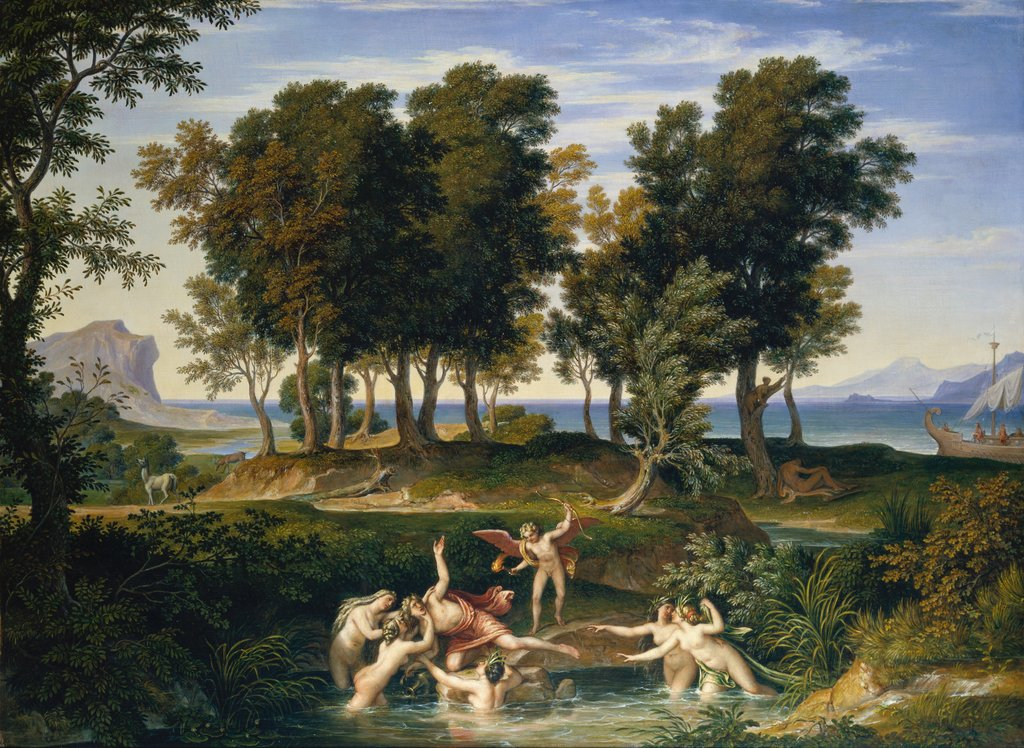 Landscape with the Rape of Hylas, Joseph Anton Koch