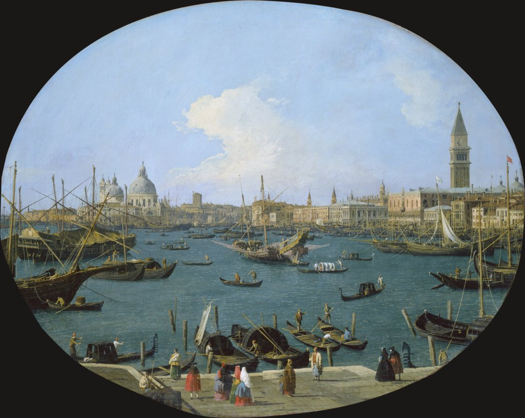 Seen from the Bacino di San Marco in Venice, Canaletto (Giovanni Antonio Canal)