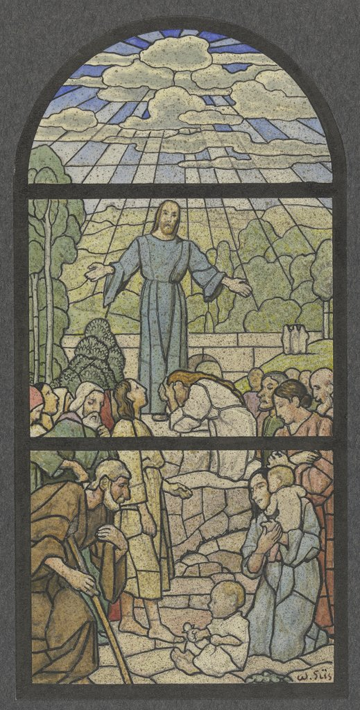 Christ as a teacher, Wilhelm Süs, after Hans Thoma