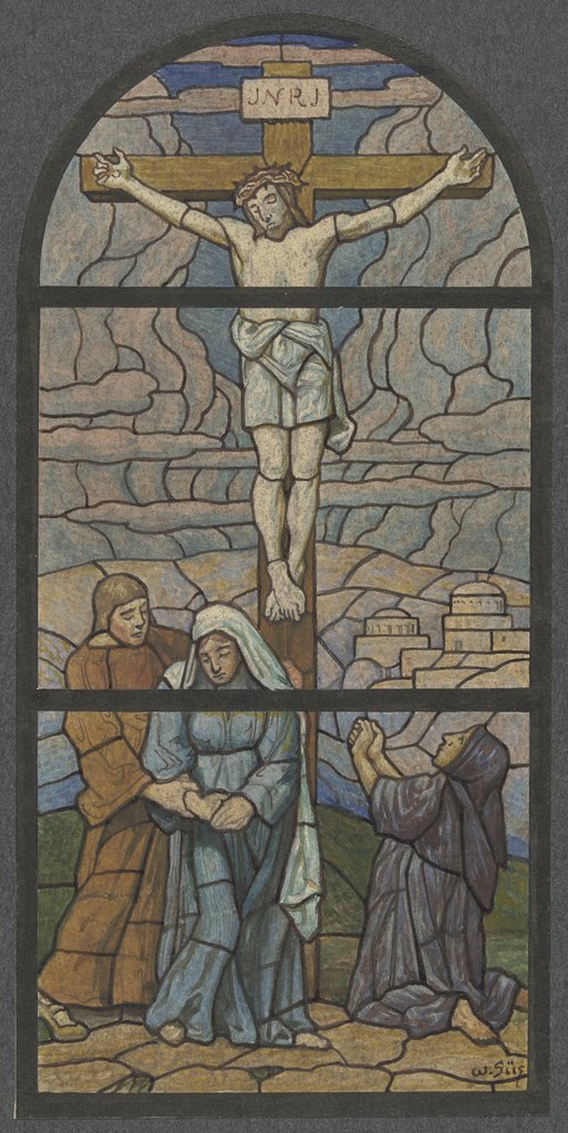 Crucified Christ, Wilhelm Süs, after Hans Thoma