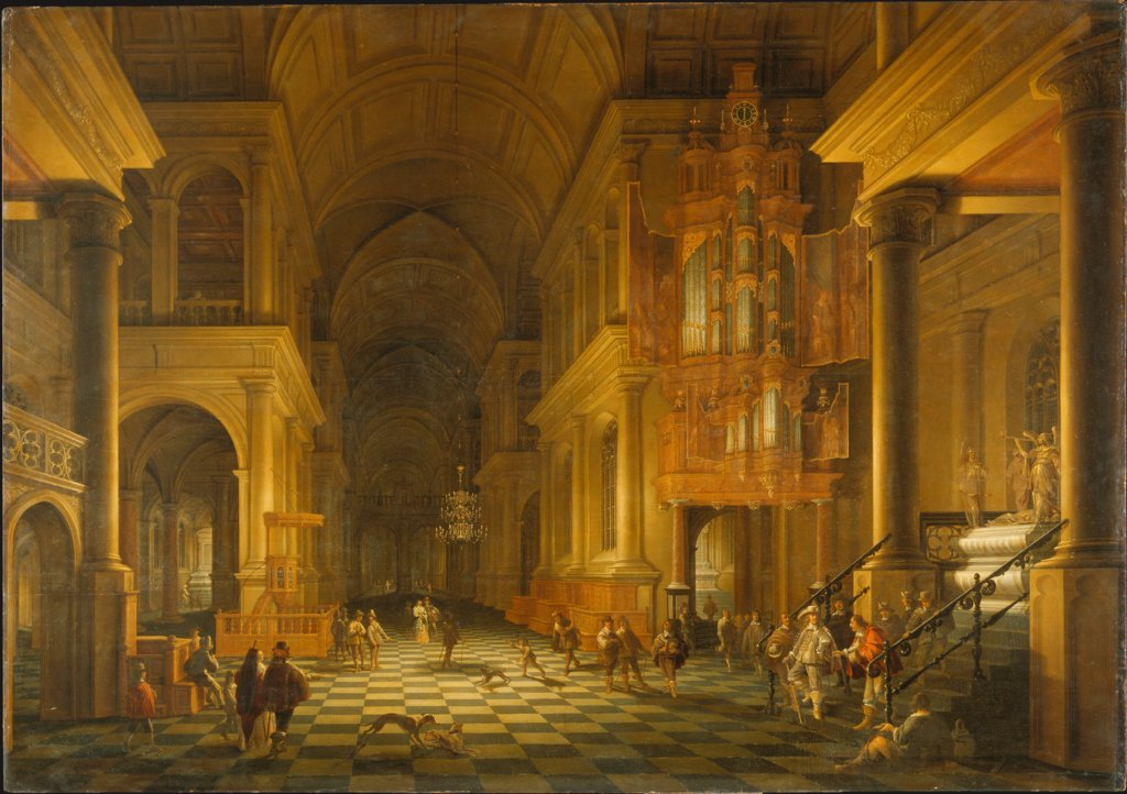 Interior of a Church Built in the Late-Renaissance Style, Anthonie de Lorme, Anthonie Palamedesz.
