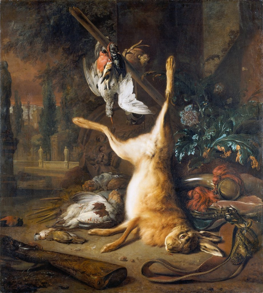 Still Life with Dead Rabbit and Birds, Jan Weenix