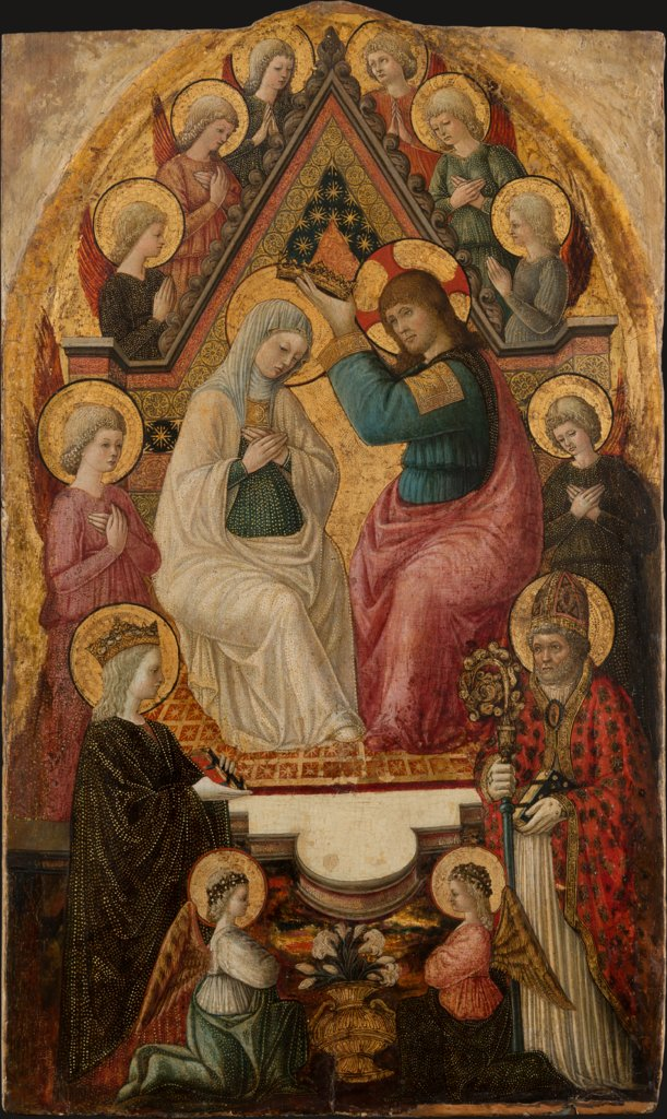 The Coronation of the Virgin, Lucchese Master ca. 1460