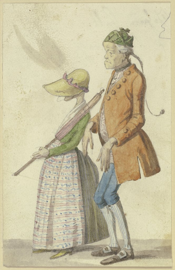 Caricatured farmer couple, Hieronymus Hess