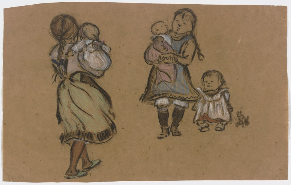Five working-class children, Heinrich Zille