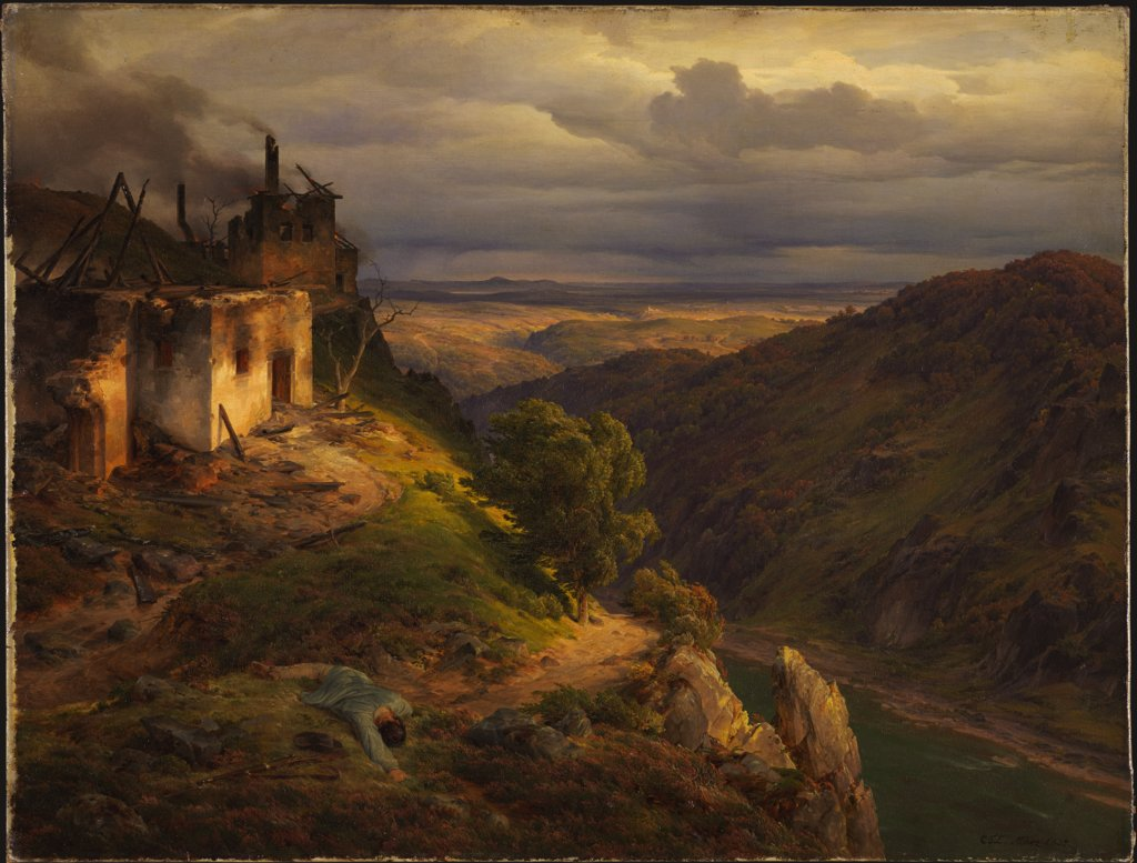 Landschaftsmalerei romantik friedrich  Carl Friedrich Lessing - Digitale Sammlung