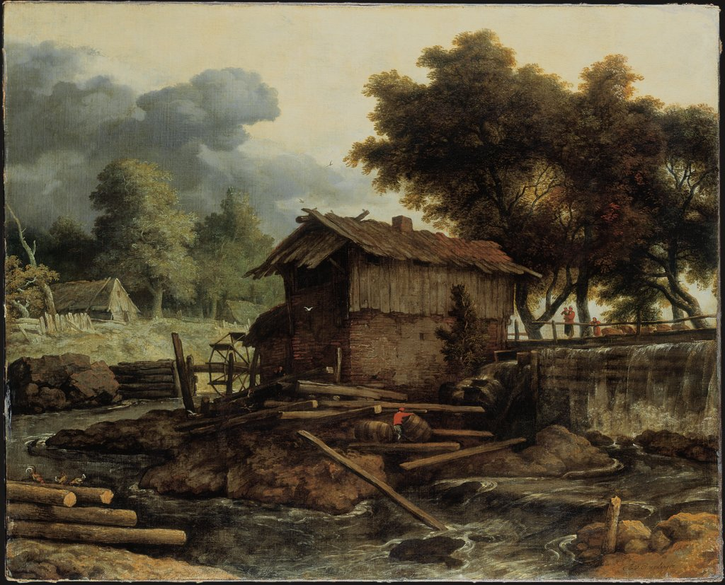 Landscape with Sawmill, Allaert van Everdingen