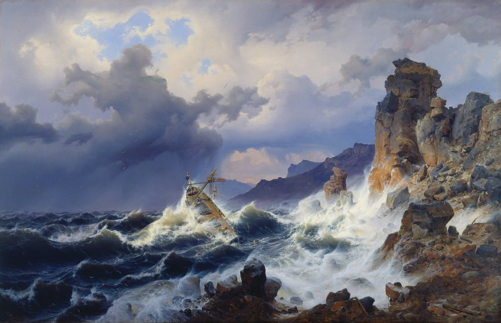 Storm at Sea off the Norwegian Coast, Andreas Achenbach