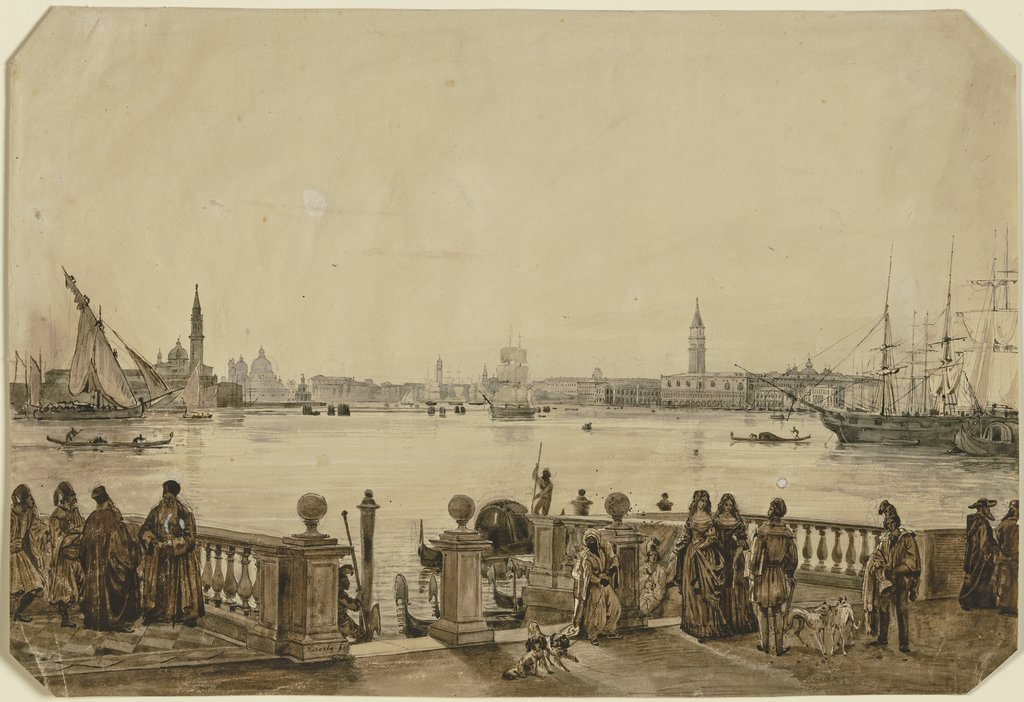 View on Venice, Friedrich Nerly
