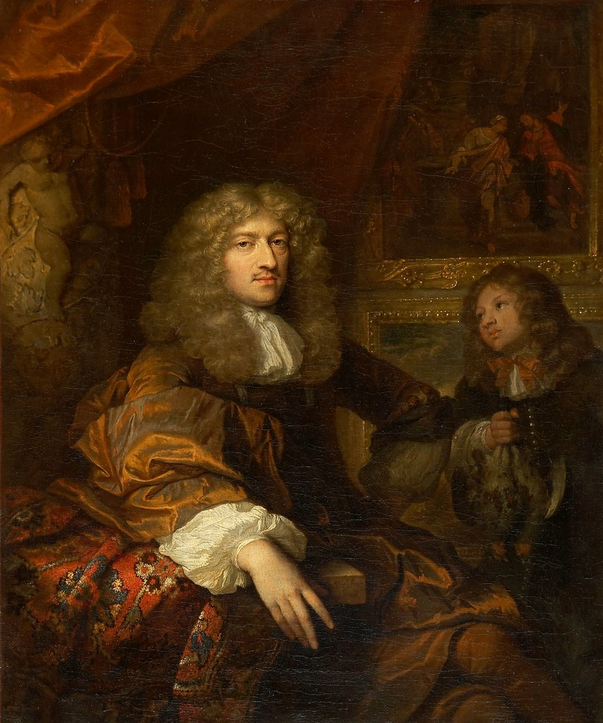 Portrait of Pieter Six with a Servant Bearing Hunting Booty, Caspar Netscher