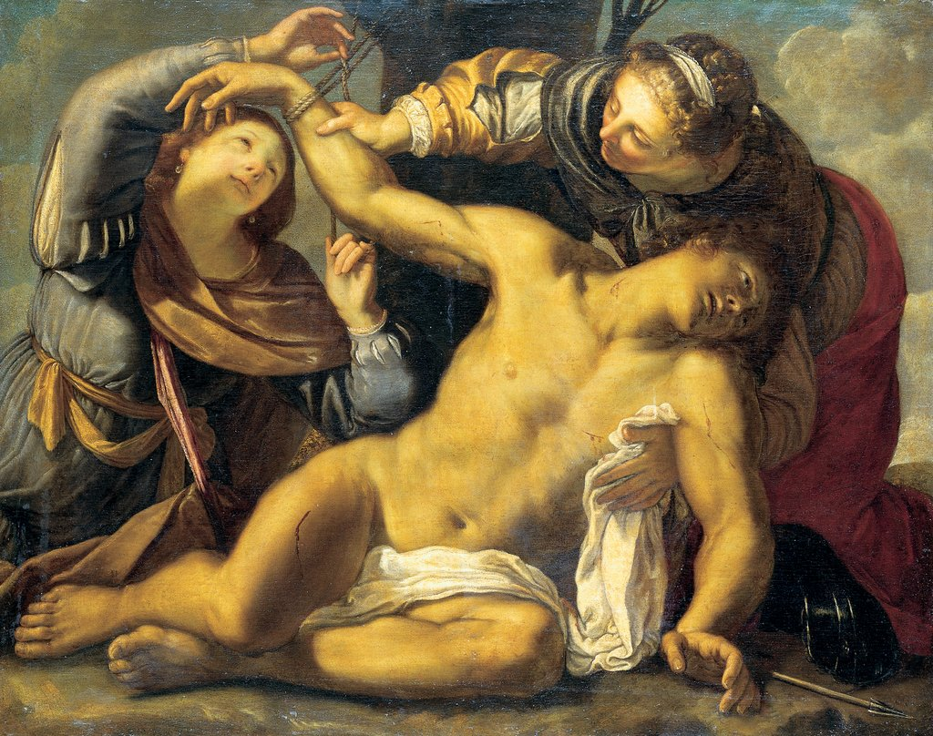 Saint Sebastian Being Cured by Saint Irene and a Servant, Carracci  school