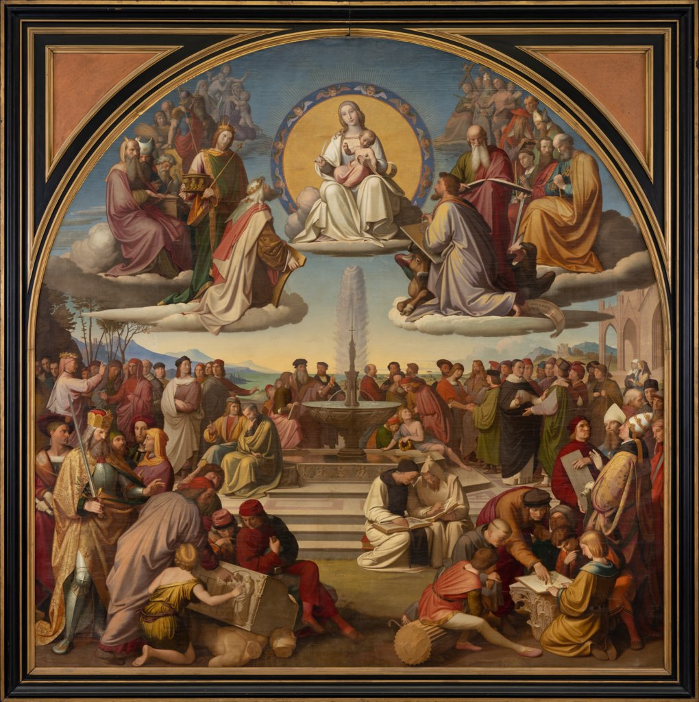 The Triumph of Religion in the Arts, Friedrich Overbeck