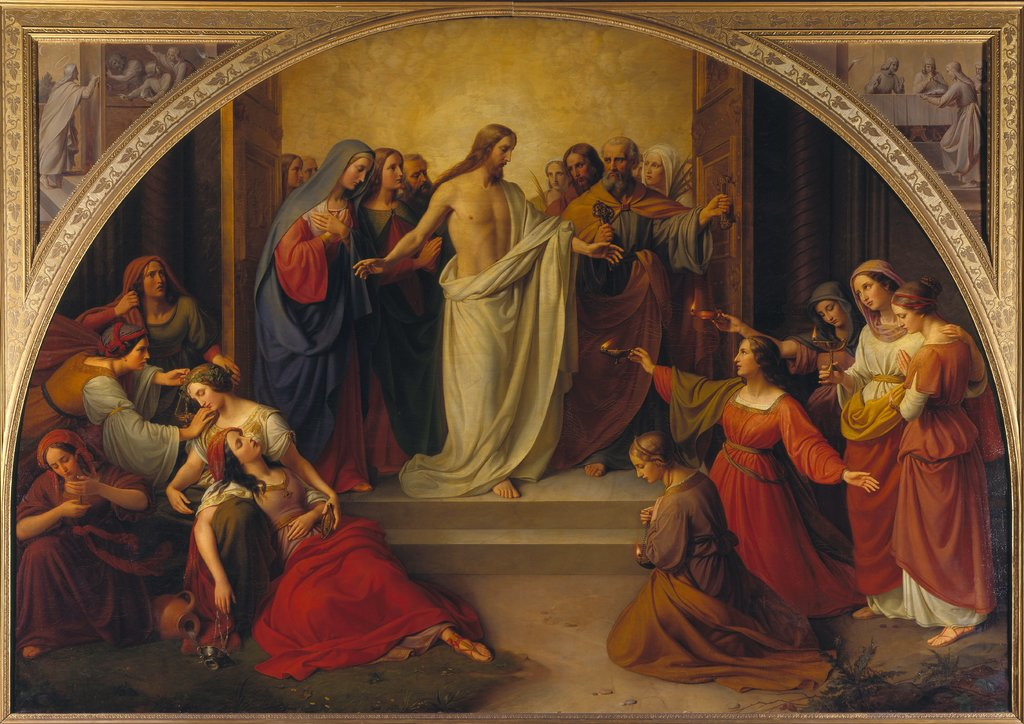 The parable of the wise and foolish virgins, Wilhelm von Schadow