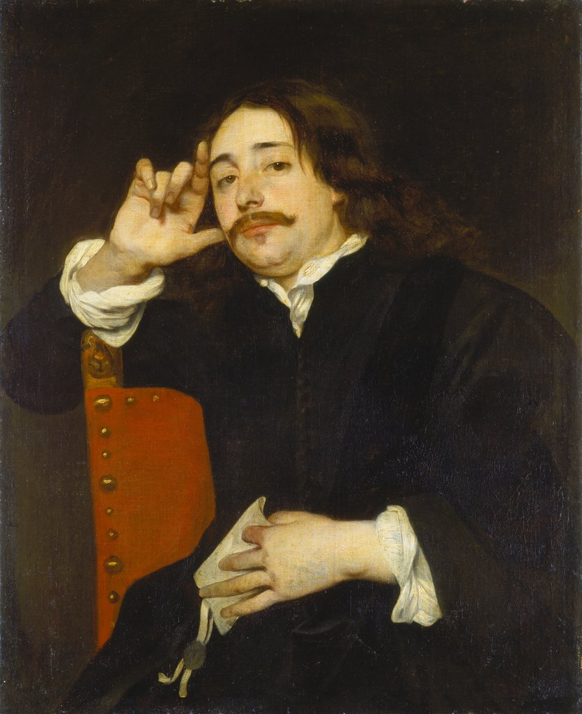 Portrait of a Man, Lucas Franchoys II   attributed