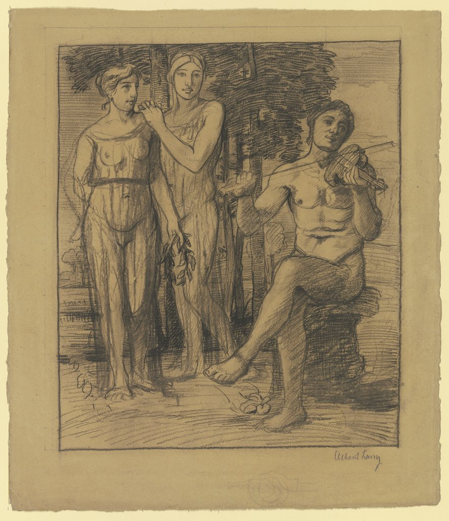 Apollo and two muses, Albert Lang