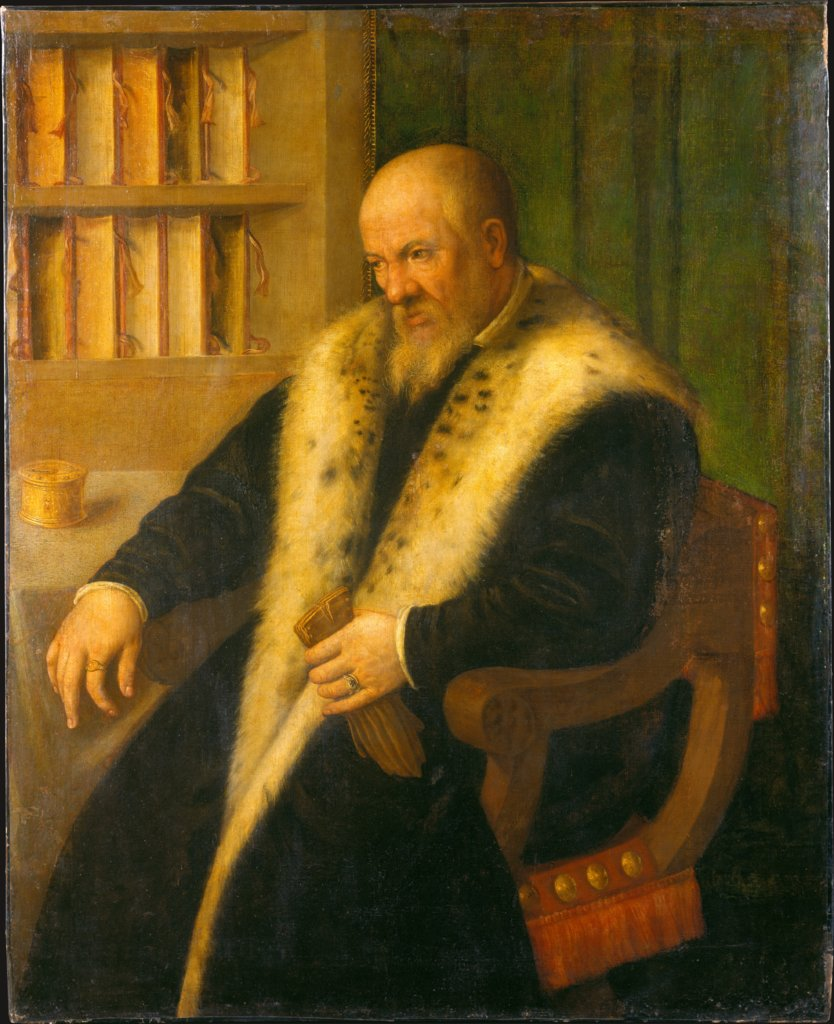 Portrait of a Scholar, style of Moretto da Brescia