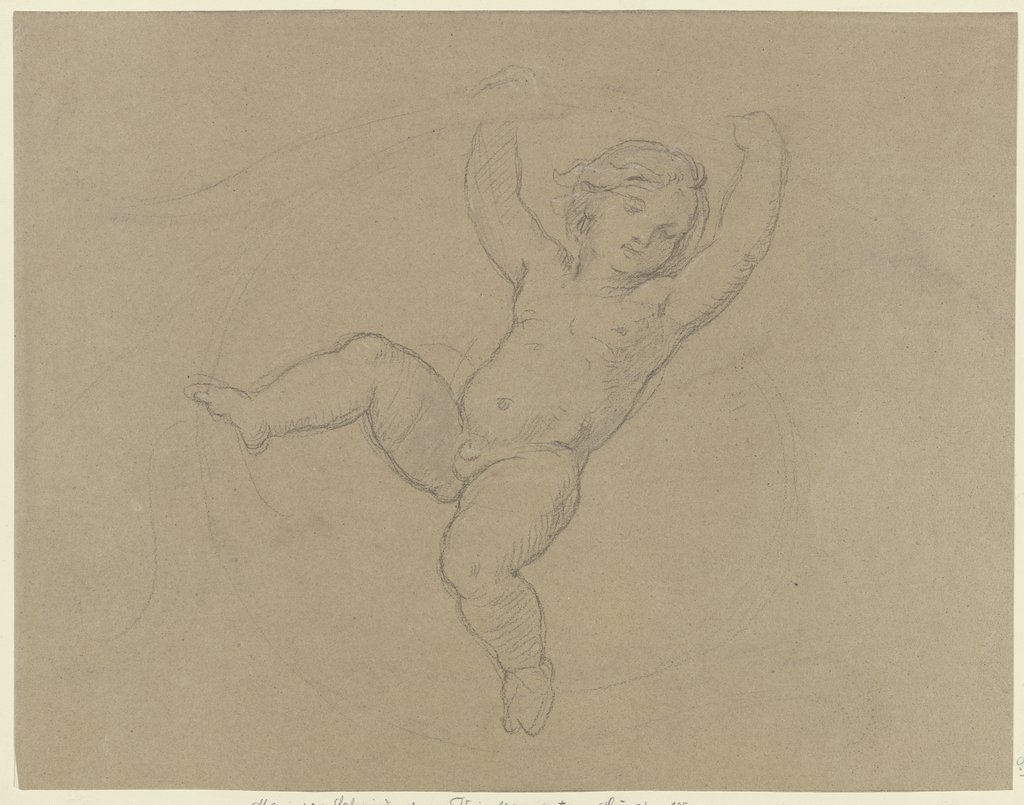 Putto between vines, Moritz von Schwind