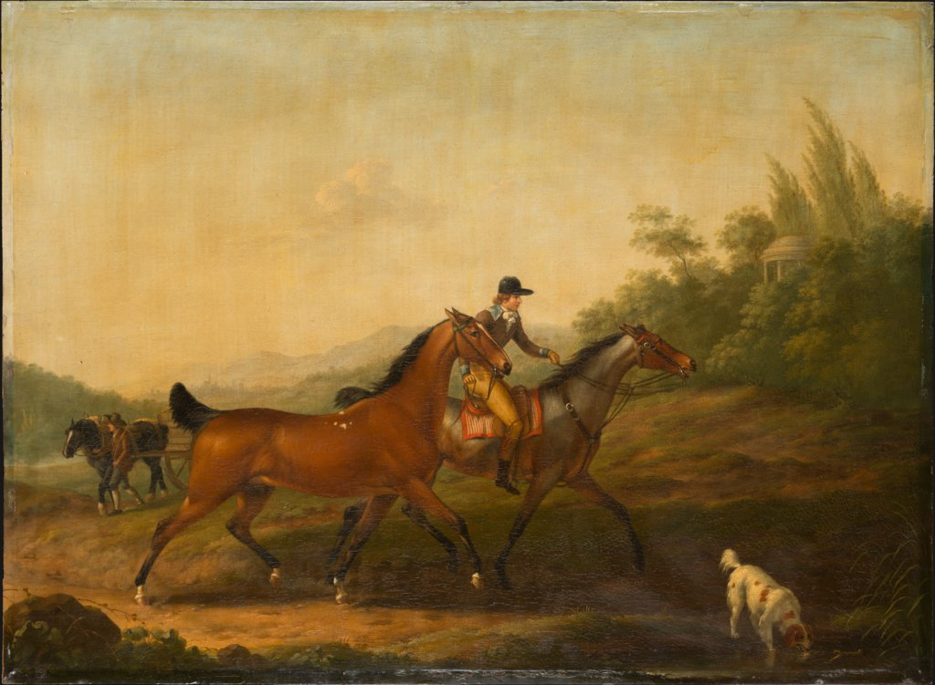 Two English Horses, Johann Georg Pforr