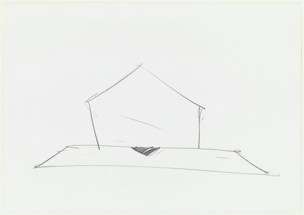 Untitled, house shape, Gerald Domenig