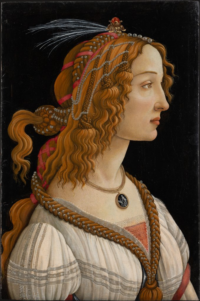 Idealised Portrait of a Lady (Portrait of Simonetta Vespucci as Nymph), Sandro Botticelli