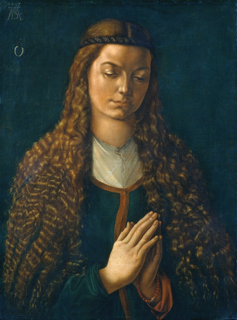 Portrait of a Young Woman with Her Hair Down, Albrecht Dürer